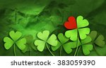 Four Leaf Clover And Red Heart...
