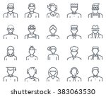 avatars icon set suitable for... | Shutterstock .eps vector #383063530