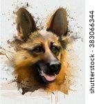 portrait of a shepherd  close... | Shutterstock . vector #383066344