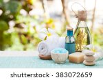 spa and wellness massage... | Shutterstock . vector #383072659