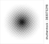 black halftone circle isolated... | Shutterstock . vector #383073298