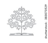 tree of knowledge. concept of... | Shutterstock .eps vector #383073529