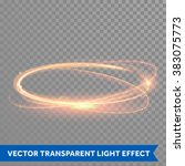 light effect line gold vector... | Shutterstock .eps vector #383075773