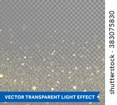 vector gold glitter particles
