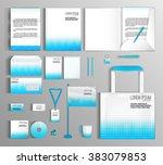 corporate identity template... | Shutterstock .eps vector #383079853