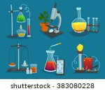 design icons set of laboratory... | Shutterstock . vector #383080228