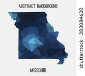 missouri state map in geometric ... | Shutterstock .eps vector #383084620