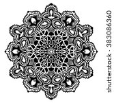 mandala black and white | Shutterstock . vector #383086360