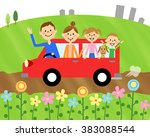 drive in the family | Shutterstock . vector #383088544