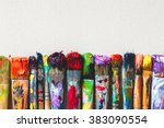 Row Of Artist Paintbrushes...