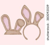 easter bunny ears. colorful...   Shutterstock .eps vector #383092039