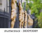 several statues of jesus christ ... | Shutterstock . vector #383093089