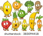 very adorable fruits and... | Shutterstock .eps vector #383094418