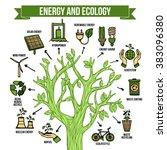 green energy ecological... | Shutterstock . vector #383096380
