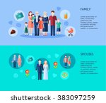 family and spouses banners | Shutterstock . vector #383097259