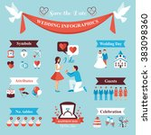wedding infographics set | Shutterstock . vector #383098360