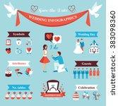 wedding infographics set | Shutterstock . vector #383098360