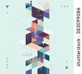 abstract modern geometric... | Shutterstock .eps vector #383099086