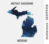 michigan state map in geometric ... | Shutterstock .eps vector #383099458