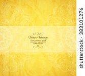 elegant indian ornamentation ... | Shutterstock .eps vector #383101276