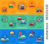 traffic violation banner set   Shutterstock . vector #383101330
