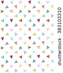 abstract pattern of colorful... | Shutterstock . vector #383103310