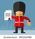 the queen's guard  with... | Shutterstock .eps vector #383104588