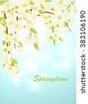 spring background with... | Shutterstock .eps vector #383106190