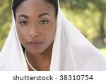 muslim  islamic woman  covering ... | Shutterstock . vector #38310754