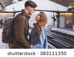 long distance relationship ... | Shutterstock . vector #383111350