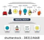 mental health flat line icon... | Shutterstock .eps vector #383114668