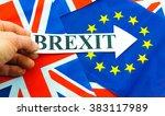 uk eu referendum concept with... | Shutterstock . vector #383117989