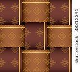 royal weaving pattern design | Shutterstock .eps vector #38312341
