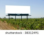 blank billboard in a vineyard... | Shutterstock . vector #38312491
