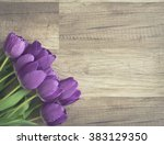 bunch of purple tulips on... | Shutterstock . vector #383129350