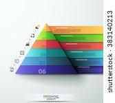 3d modern infographic template... | Shutterstock .eps vector #383140213