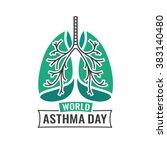 world asthma day   Shutterstock .eps vector #383140480