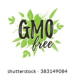gmo free poster. | Shutterstock .eps vector #383149084