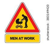 men at work sign vector... | Shutterstock .eps vector #383149420