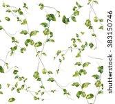 watercolor illustration of leaf ... | Shutterstock . vector #383150746