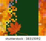 Maple Leaf And Foliage Mosaic...