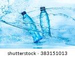 bottle of water splash on a... | Shutterstock . vector #383151013