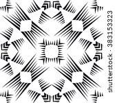 modern monochrome seamless... | Shutterstock .eps vector #383153323