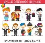 vector set of arts and... | Shutterstock .eps vector #383156746