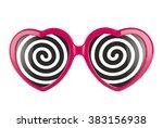 a pair of pink heart shaped... | Shutterstock . vector #383156938