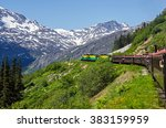 white pass   yukon route... | Shutterstock . vector #383159959