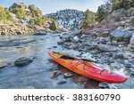 Whitewater Kayak With A Paddle...