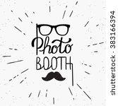 photo booth hand written design ... | Shutterstock .eps vector #383166394