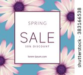 bright spring sale design.... | Shutterstock .eps vector #383166538