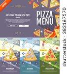 flat style pizza menu concept...